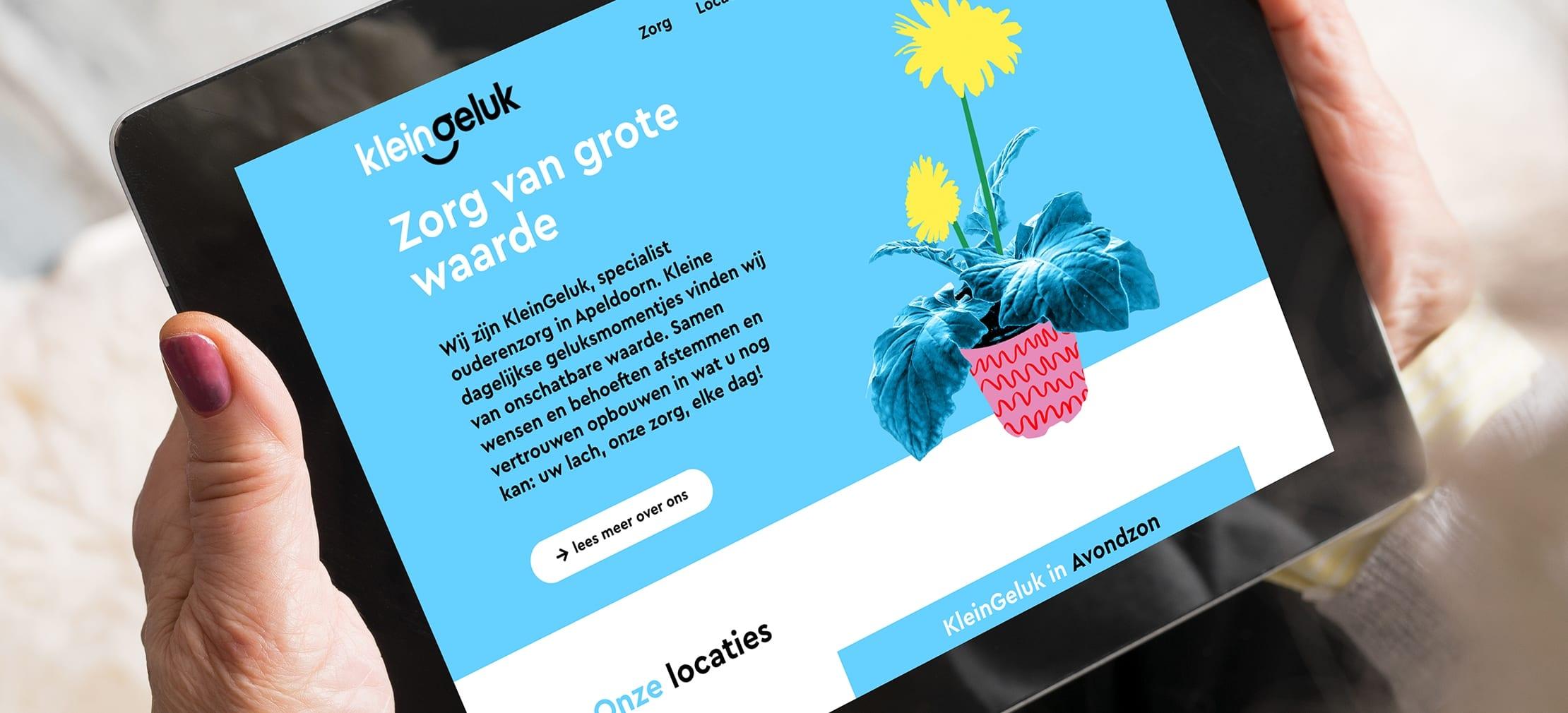 Rocket launch: website KleinGeluk!